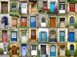 colorful-doors-in-french-region-of-brittany