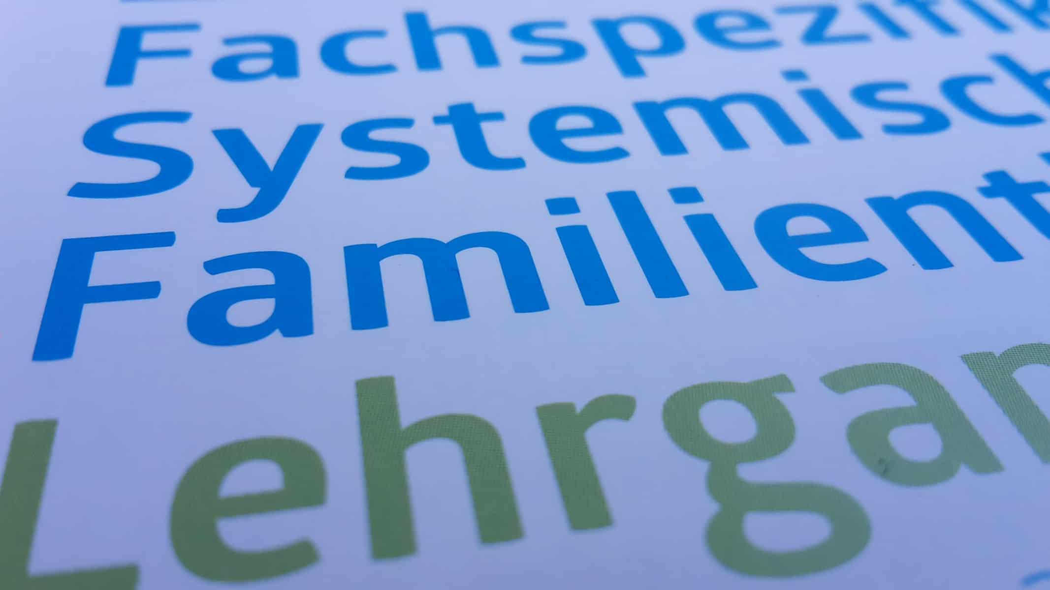 Titel zum Folder Fachspezifikum Systemische Familientherapie Lehrgang