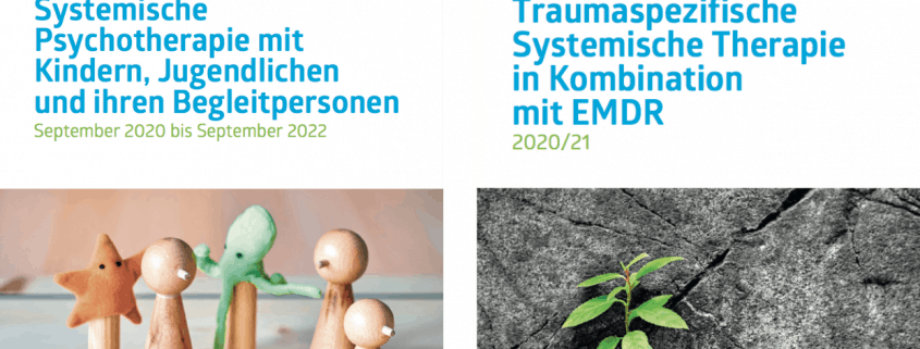 Folderdeckblätter Kindercurriculum und Traumatherapie
