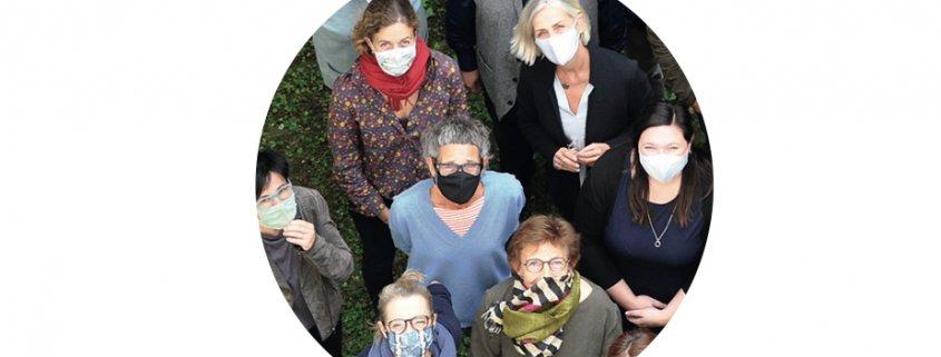Lehrtherapeutinnen der lasf mit Mund-Nasenschutz