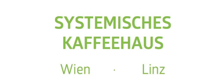 Schriftzug Systemisches Kaffeehaus Wien Linz
