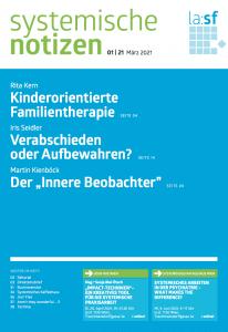 Das Titelblatt der Zeitschrift Systemische Notizen, Heft 01, Jahrgang 2021